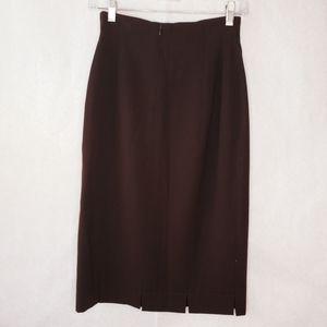 Escada brown skirt back zipper